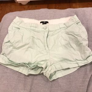 Pants - H&M Mint Shorts